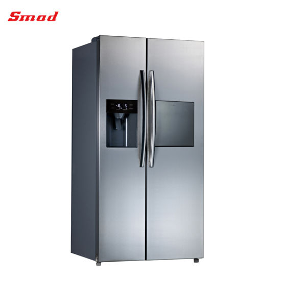 400L Double Door Auto Defrost Stainless Steel Refrigerator with SAA pictures & photos