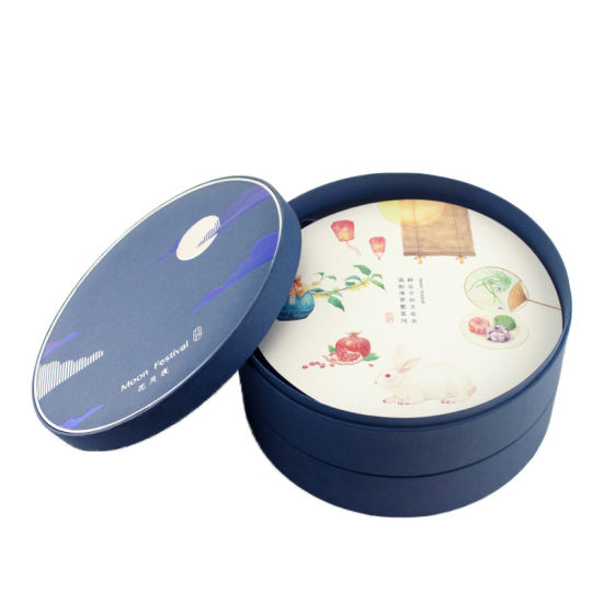 Luxury Double Layers Food Packaging Round Gift Packing Box
