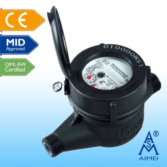 MID Certificated Volumetric Piston Type Plastic Water Meter pictures & photos