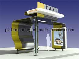 China Taxi/Bus Stop Station for Public Equipment with Light