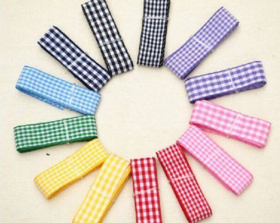 High Quality Plaid Tape Ribbon for DIY and Decoration