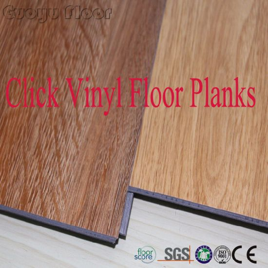 China Anti Slip Click Lock Plastic Wood Pvc Vinyl Floor Tile China