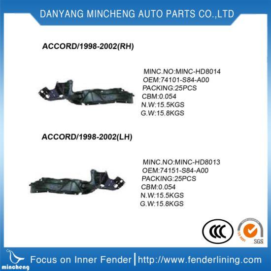 Auto Parts Inner Fender Lining For Honda Accord