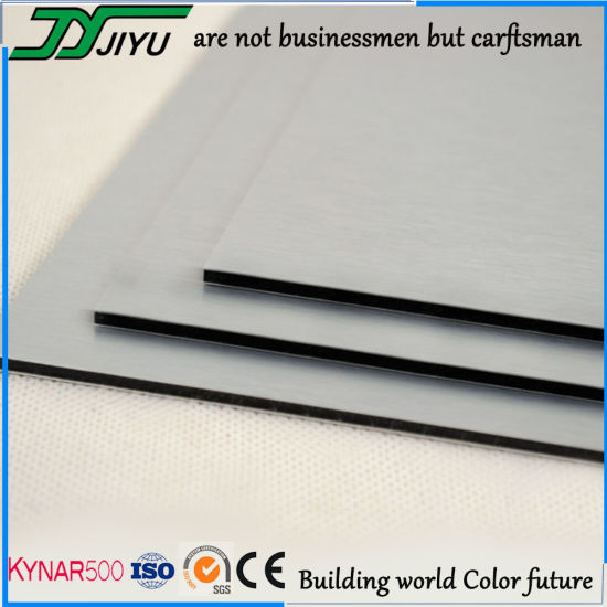 Dark Silver PVDF Coated Aluminum Composite Panel / ACP Wall Cladding
