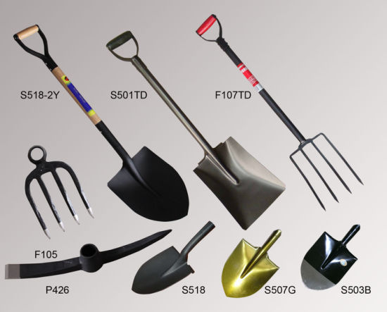 Different Types of Spade, Fork, Fork Hoe, Steel Shovel pictures & photos