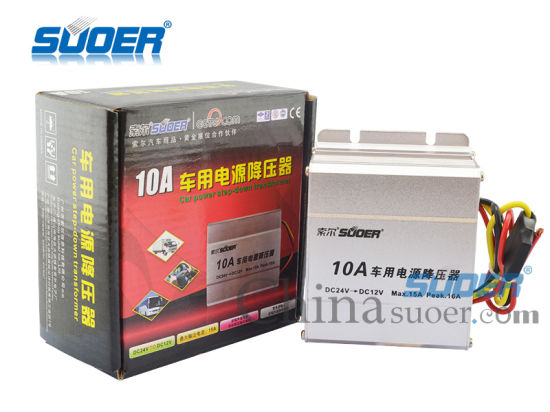 Car Power Transformer DC 24V to 12V Car Power Supply Transformer (SE-10A) pictures & photos