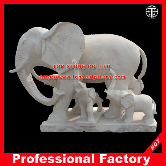 Elephant Marble Sculpture For Garden \Fountain \Home Decoration