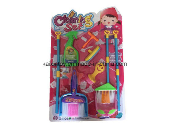 China Funny Design Plastic Toys of Children Cleaning Set