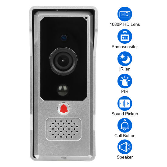 WiFi Waterproof Wireless Video Doorbell CCTV Camera with CMOS for Security System pictures & photos