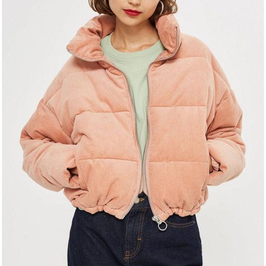 2018 Fashion Short Style Women Pink Winter Borg Coat Wholesale
