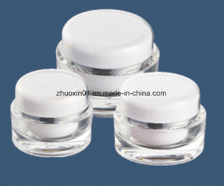 PP Cap Soft Push Smooth Dispense Various Sizes Cream Jar for Cosmetics