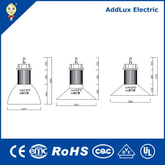 220V IP65 COB 100W Warm White LED High Bay Lamp