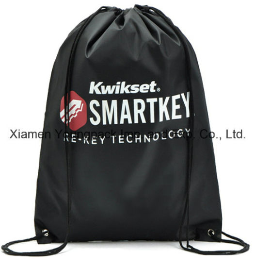 bb62724faa Custom Black Waterproof Nylon Drawstring Swim Backpack Swimming Beach Bag  pictures   photos