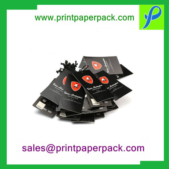 Fashionable Brand Name Tag, Cardboard Paper Clothing Hang Tag with Logo pictures & photos
