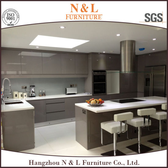China Gray Color High Gloss Lacquer Kitchen Cabinet Design - China on lacquer kitchen cabinet doors, lacquer countertops, kitchen furniture design,