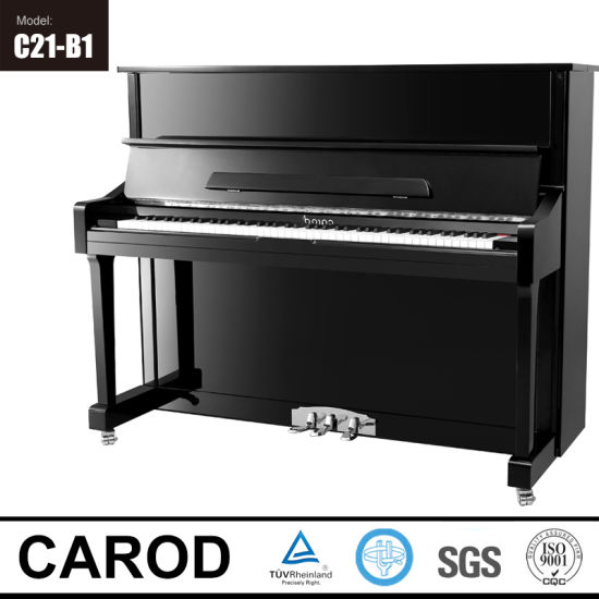 Black Upright Piano 121cm pictures & photos