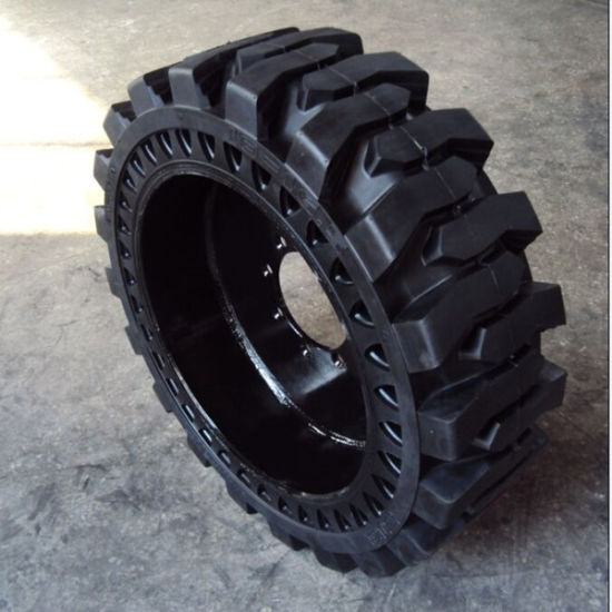 33X12-20 Solid Tyre with Web Type Skidsteer or with Rim Type