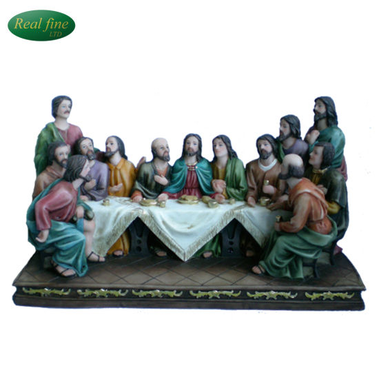 China Customized Newest Resin 3d Last Supper Sculpture For Sale