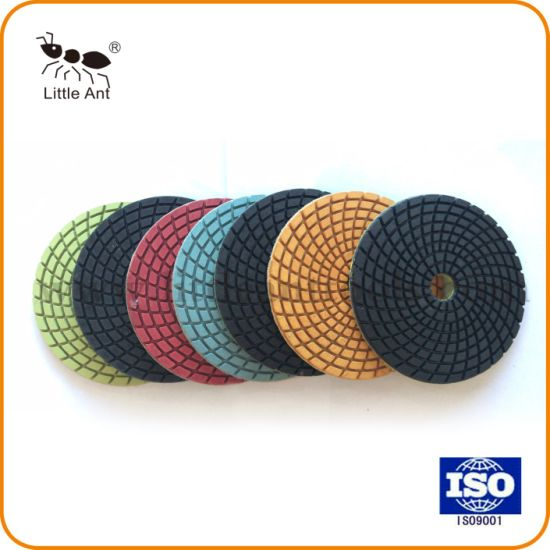 100mm Flexible Diamond Wet Polishing Pads for Marble & Granite pictures & photos