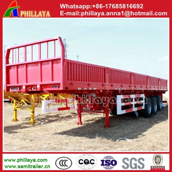 Tri-Axle 40FT Container Dropside Trailer for Truck pictures & photos