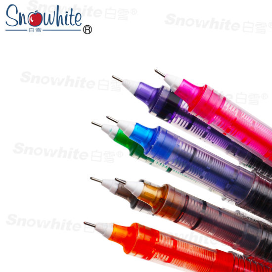 X55 Refiller Liquid Ink Roller Ball Pen with 0.5mm Needle Tip Ten Color Assorted pictures & photos
