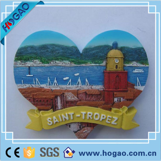 [Hot Item] Polyresin Fridge Souvenir 3D Relief Resin Magnet (HG-010)