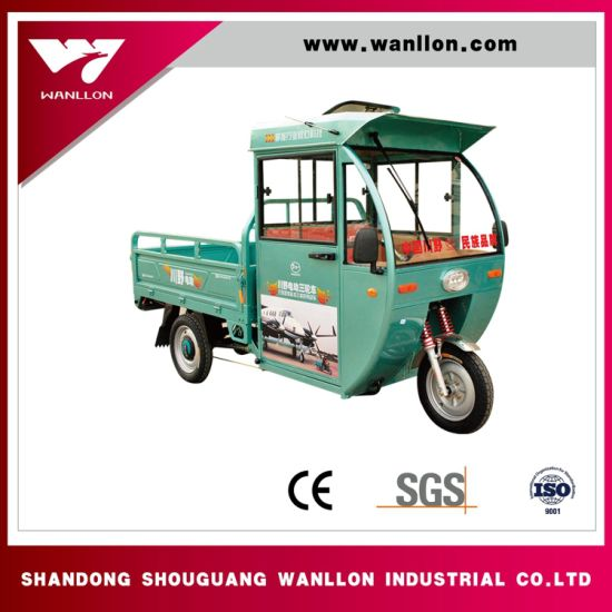 Aluminum Alloy Shock Absober Hybrid Semi-Closed Passenger and Cargo Tricycle pictures & photos