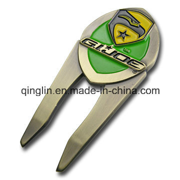 Customized Plating Color Metal Golf Repair Divot Tool pictures & photos