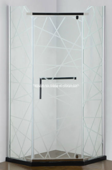 Simple Frameless Hinge Shower Enclosure (AS-940N) pictures & photos