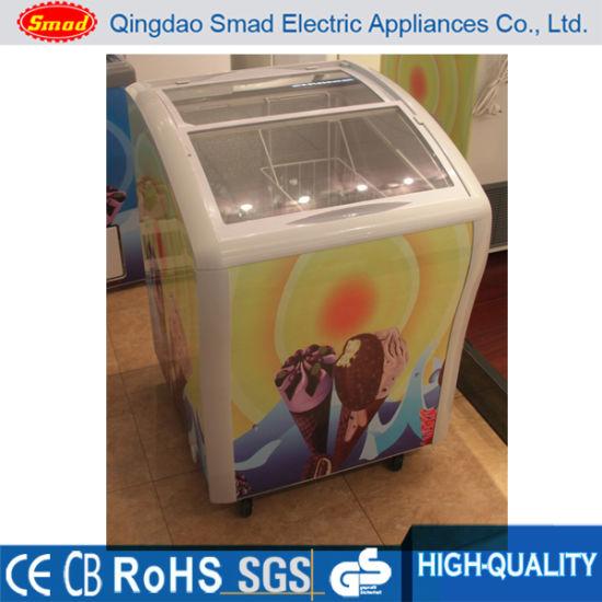 Mini Ice Cream Display Freezer Mini Deep Freezer Glass Door