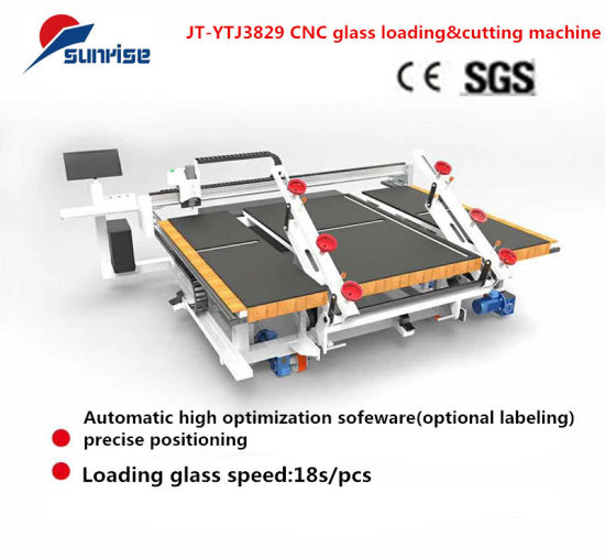 Manual/Automatic CNC Toughened Thin Float Laminated Air Vertical Glass Cutting Breaking Loading Machine Table