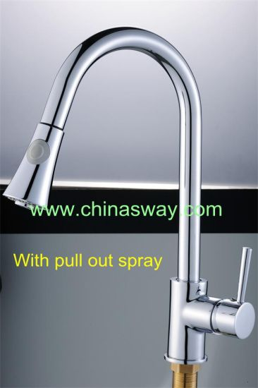 China Kitchen Sink Faucet Movable And Retractable Spout Sw 09570