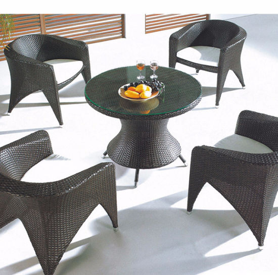 Factory Wholesale Price to Outdoor Wicker Table and Chairs Furniture