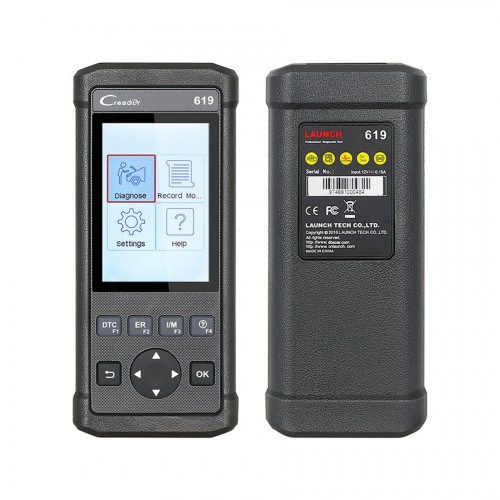 Launch Creader 619 Code Reader Full OBD2/Eobd Functions Support Data Record and Replay Diagnostic Scanner
