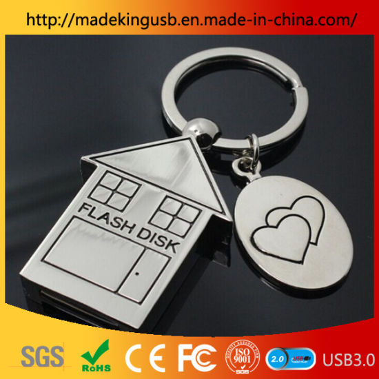 Metal Stainless Steel Small House USB Flash Drive/USB Disk pictures & photos