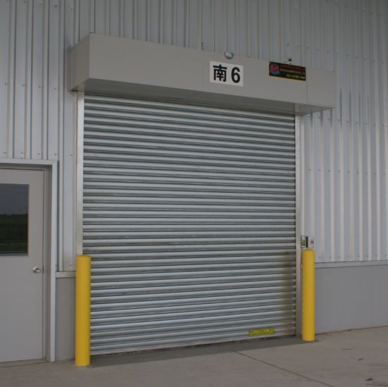 Exterior Interior Galvanized Steel Fire Safety Rated Rolling Fireproof Roller Shutter Up