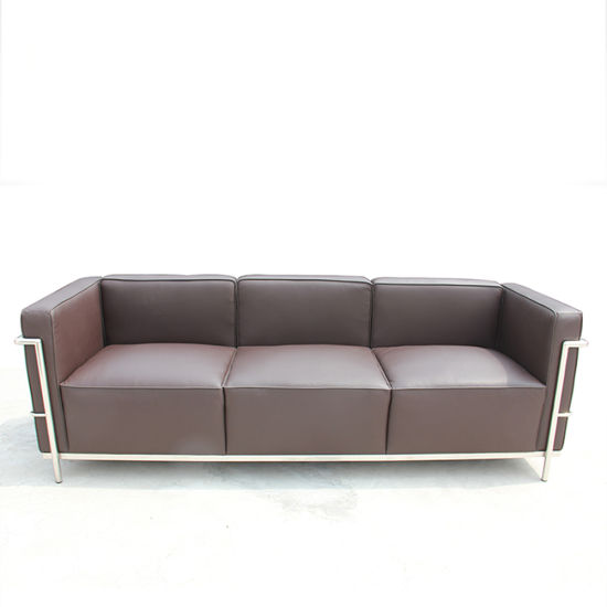 Modern Sofa Set Living Room Furniture Three Seater Full Leather Couch