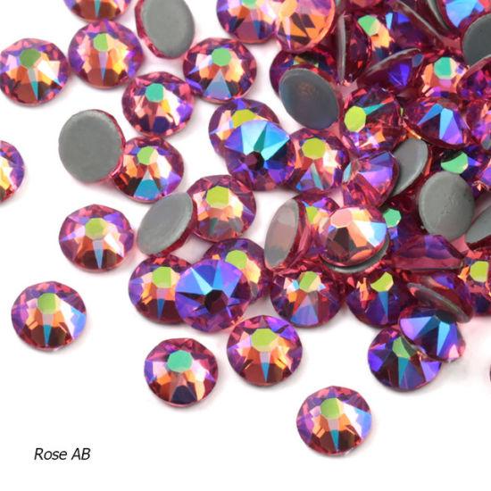 Kingswick Rose Ab Rhinestone 1440PCS Iron-on Non-Hotfix Rhinestone New Faceted Flatback Crystals Rhinestones