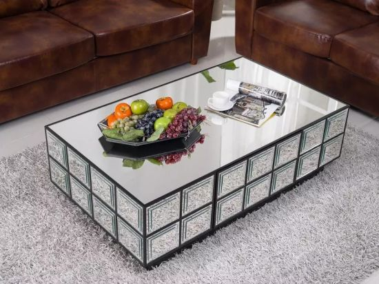 Mirrored Table Coffee Table, Mirrored Glass Living Room Furniture pictures & photos