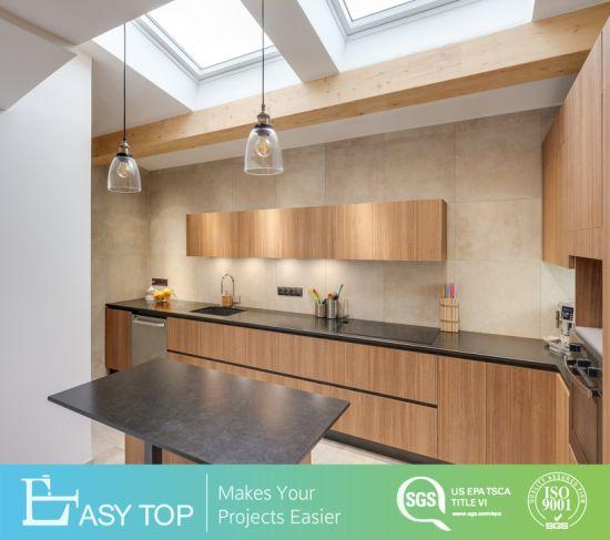 Affordable Modern Comfort Wooden HPL Laminate Fireproof Designs of Kitchen Hanging Cabinets