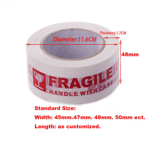 NEW STRONG FRAGILE PRINTED PARCEL TAPE ROLL OF 12 6 24 36 48mm 66m FRAGILE TAPE