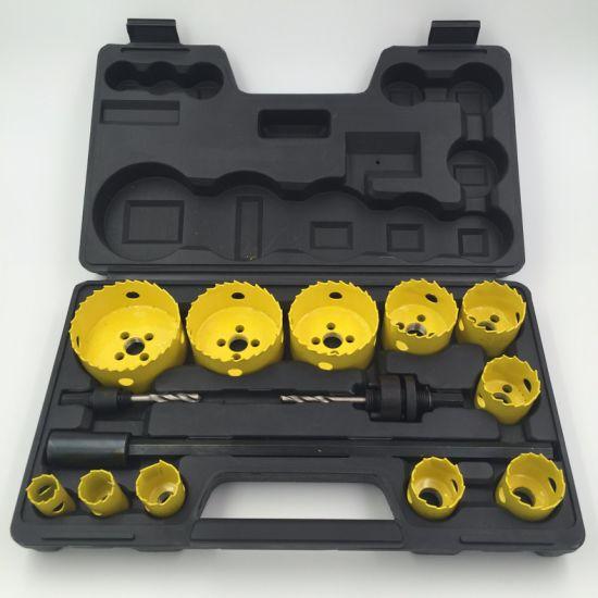 Drill Bits 14PCS Bi-Metal Hole Saw Kit with Blow Box Hole Saw