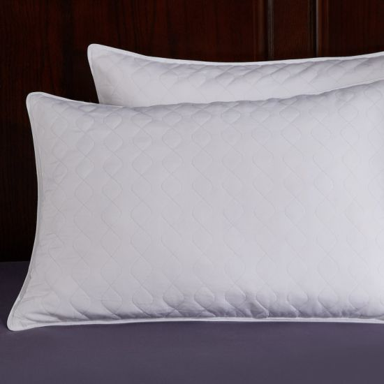 Cotton Cover White Duck Down Standard Size Pillow pictures & photos