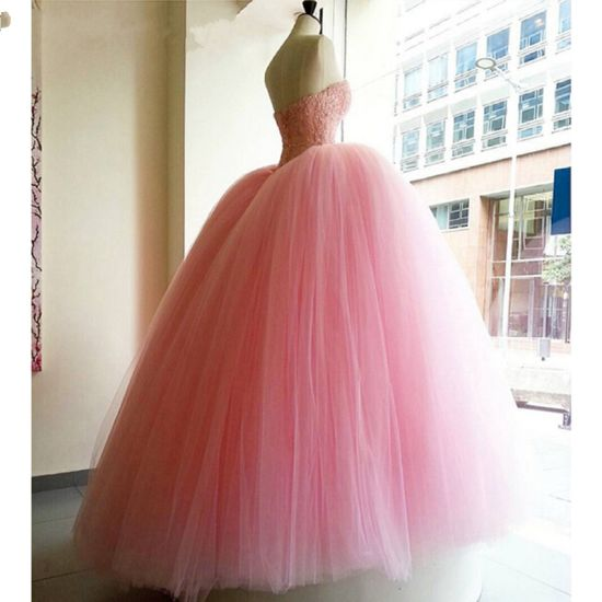 858ffeaf83d China Crystal Bridal Ball Gowns Red White Pink Tulle Puffy Real ...
