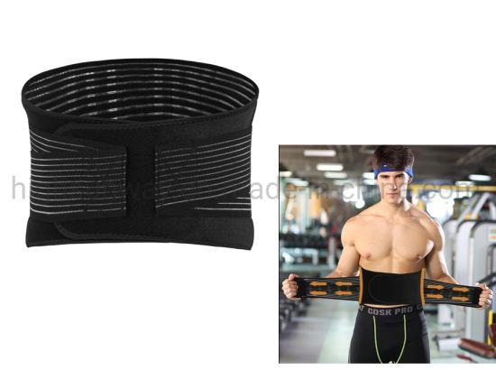 Perfect Shape Black Adjustable Sport Waist Belt Slimming Back Support Sport Waist Trimmer Belt