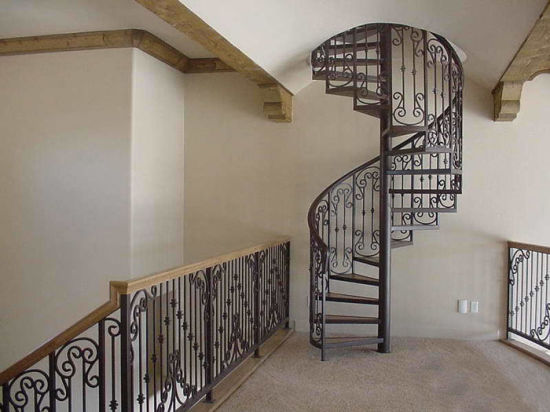 Ordinaire Mild Steel Cast Wrought Iron Spiral Stair Railing Design, Decorative  Wrought Iron Spiral Staircase