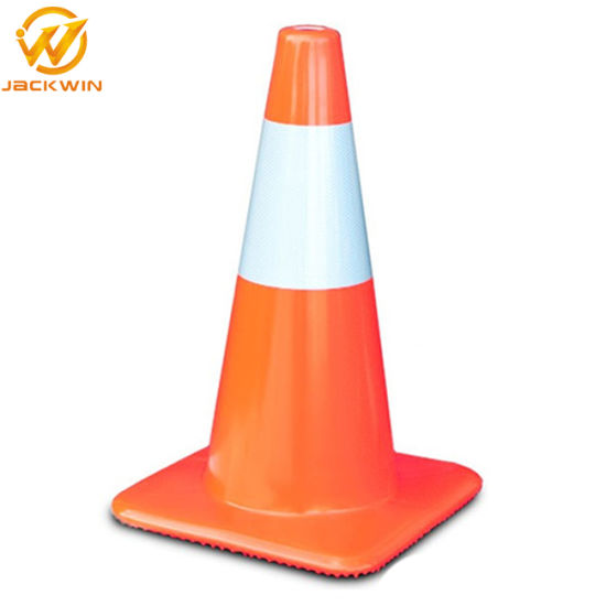 Reflective 28 Inch Orange Plastic Traffic Cone for Road Safety pictures & photos
