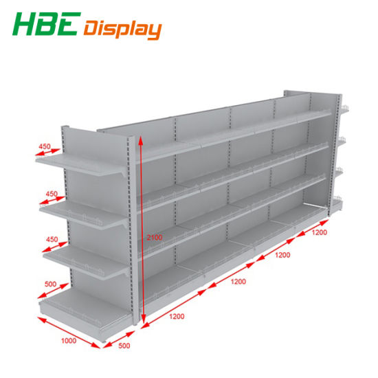china supermarket double sided gondola shelf for stores and shops rh saleshelf en made in china com shelves for convenience stores clothing shelves for stores