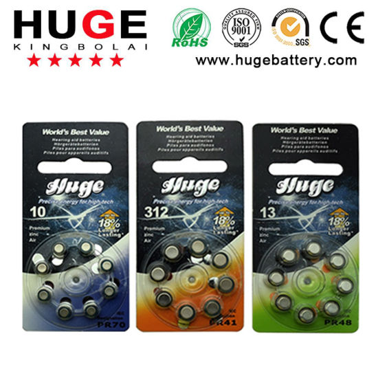 1.4V Hearing Aid Battery&Zinc Air Battery Button Cell Battery (A10/A13/A312/A675)