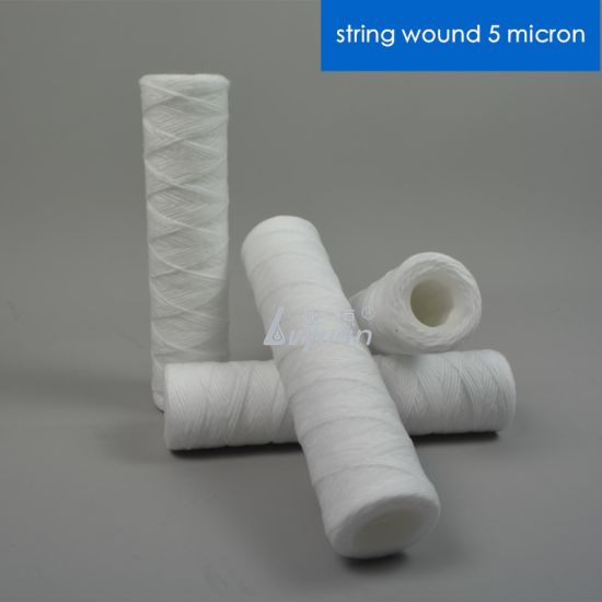 Polypropylene 0.5 1 Micron Yarn Wounded Filter Cartridge for Sediment Removal